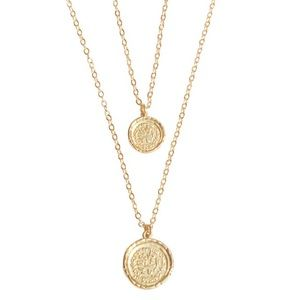 Amber Sceats Double Coin Necklace - Brand New